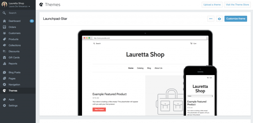 Temi Shopify e-commerce