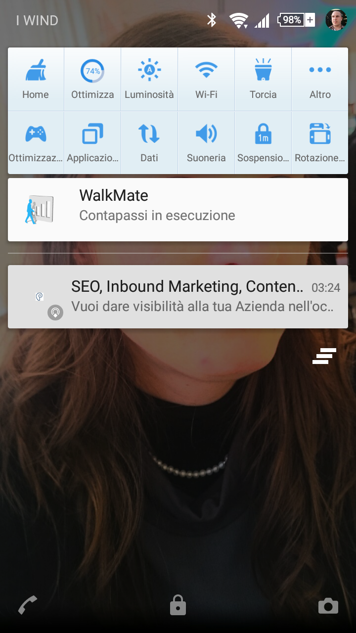 notifica eddystone argoserv su android